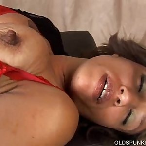 Sexy mature black inexperienced has fine big tits