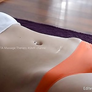 Unexperienced Massage  with tight undies - perfect Camel toe