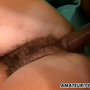 Amateur gf interracial threesome with facials