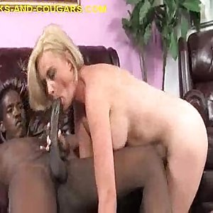 Young Black Fills Hot Cougar