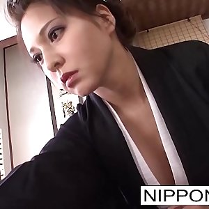 Asian brunette shows off her blowjob skills