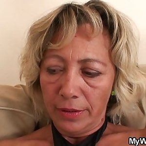 Girlfriends hot mom riding his cheating cock